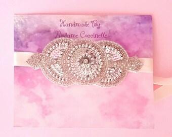 Great Gatsby Hair Applique // Bridals Rhinestone // Silver Rhinestone // Bride's Hair Jewelry // 20s 30s Bridal Headpiece // Retro Bridal
