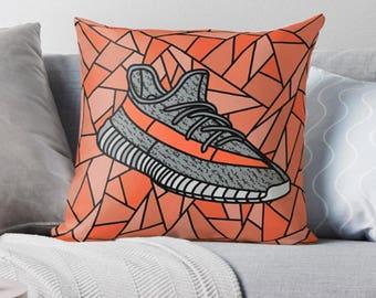Yeezy Boost 350, Yeezy, Yeezy Beluga, Sneakerhead Pillow, Decorative Throw Pillow, Sneaker Art, Sneaker Decor, Square Pillow, Edition of 30