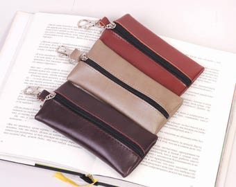 "Leather Key Case ""Marco"" in various colors, Key Holder, Key Bag, Soft Key Case, Soft Key Bag, Bag for Keys, Key Pouch"