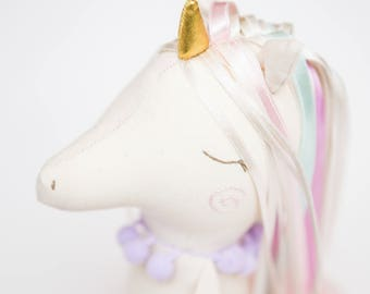 Unicorn doll Stuffed toy Rag doll