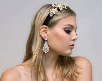 Gold Leaf Embellished Headband