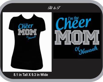 Cheer Mom Glitter and Rhinestone T-Shirt