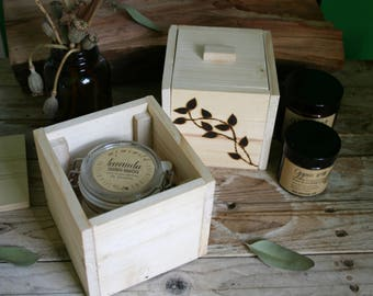 Wooden boxes with lid-jewellery box-candles boxes-wood recovery-wood-boxes-pyrography