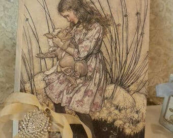 Alice in Wonderland Altered Journal / Guest Book