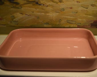 Vintage Abingdon Console or Planter Bowl in Coral Pink Serving Dish Tray