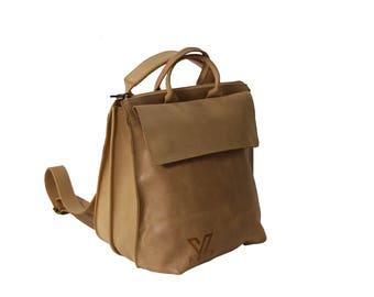 Beige Medium Messenger, Leather Tote ,Black Leather Bag, Shoulder Bag, Crossbody Bag , Laptop Bag Women, Work Bag, Office Bag