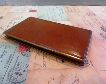 Vintage 1950s Gents Calf Leather Cigarette Case Tobacciana