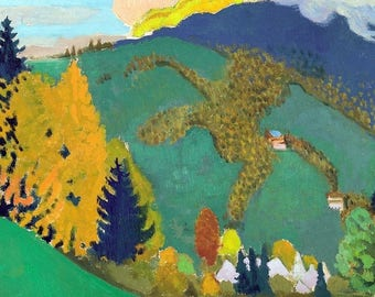"""""""Placemat Maurice Denis ' La Chartreuse from the rest"""""""