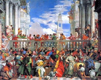 Laminated placemat Veronese 'The wedding at Cana'
