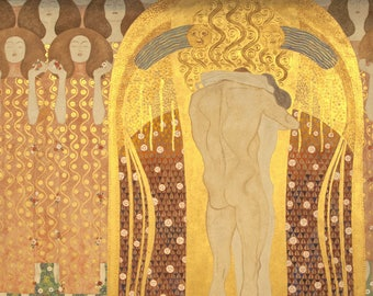 Laminated placemat Klimt 2 Beethoven frieze