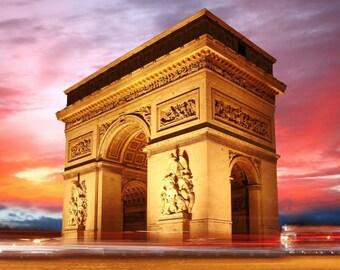 Laminated placemat France Paris Arc de triomphe