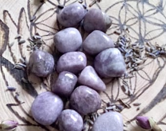 Lepidolite tumblestones