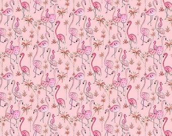 Haute Zahara, Multi Flamingoes Pink Cotton Woven by Dena Designs