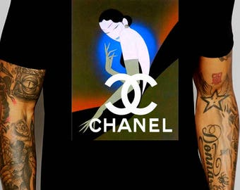 Chanel inspired vintage magazine ad #4 shirt M or L