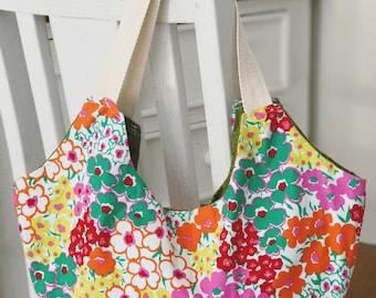 Floral Market Hobo Bag, Shoulder Bag, Floral Purse, Cute Handbag Purse