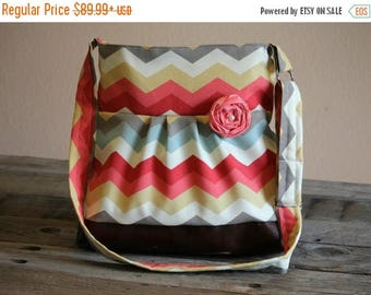 CHRISTMAS SALE Conceal Carry Purse, Medium Messenger Bag, Chevron Conceal Carry, Conceal Carry Handbag, Concealed Carry Purse, Conceal and C