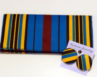 African print cash wallet/ Chequebook cover