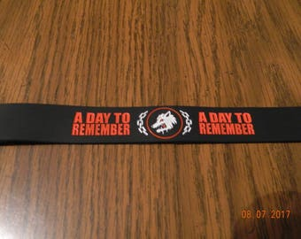 MIP- A Day To Remember Rubber Wristband one size fits mos