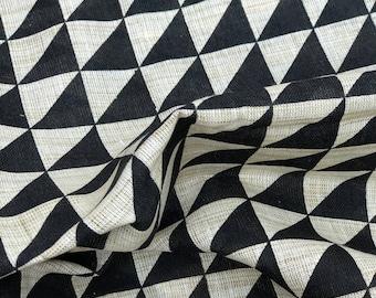 Beige Black Handloom Cotton Fabric 20%SALE, Khadi Cotton Block Print,Dress Fabric,Indian fabric By Yard,khadi Cotton