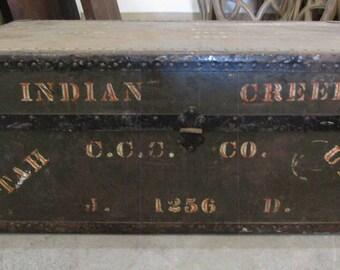 Vintage Foot Locker Shipping Trunk