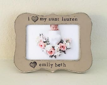 GIFT for Aunt, Mother's Day Picture frame New aunt gift Auntie gift Aunt to be personalized picture frame