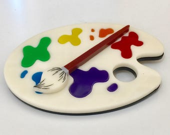 Small Paint Palette Brooch