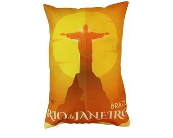 Brazil | Adventure Time | Pillow Cover | Wanderlust | Throw Pillow | Travel Pillow | Pillow | Home Decor | 12 x 18 Pillow | Adventure Awaits