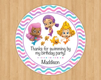 Bubble Guppies Favor Tags