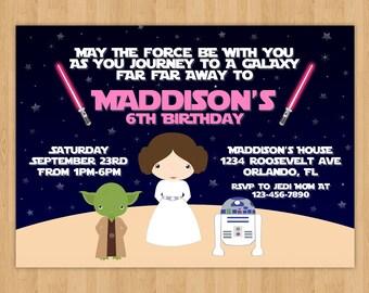 Star Wars Girl Birthday Invitation