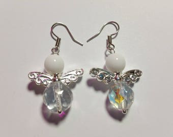 "Earrings ""Angel White 2"""