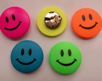 smiley face button covers