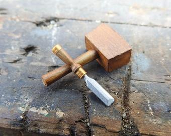Dolls House Miniature Mallet & Chisel