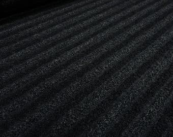 Fabric Bouclé Stricktstoff Transverse stiffened longitudinally elastic black Anthracite (27.80 EUR/meter)
