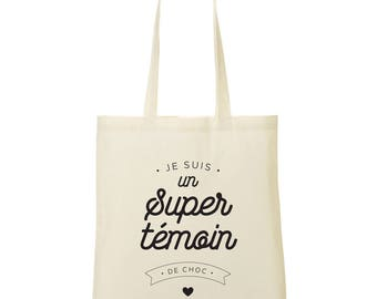 Tote bag I am a super shock control