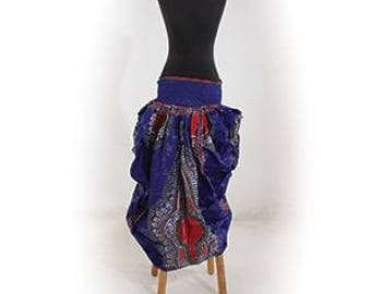 African Traditional Print Bubble Skirt