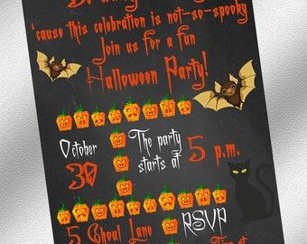 Halloween Invitations - Printable Halloween Invitations - Instant Download - Halloween Party