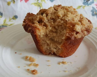 Jumbo Coffee cake muffins rich and moist 1/2 dozen gourmet homemade