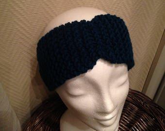 Fancy wool teal headband