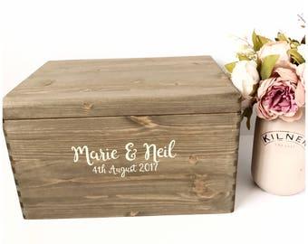 Personalised wedding card box - Card Box - Wedding Card box -  Wedding box - Wedding mail box - Wedding ideas - Rustic wedding card box