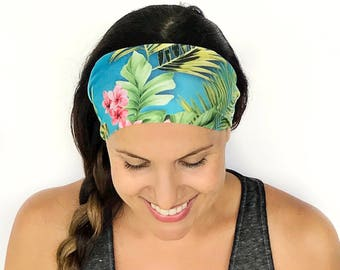 Yoga Headband - Aruba Escape Print - Running Headband - Fitness Headband - Fitness Apparel - Wide headband - Workout Headband