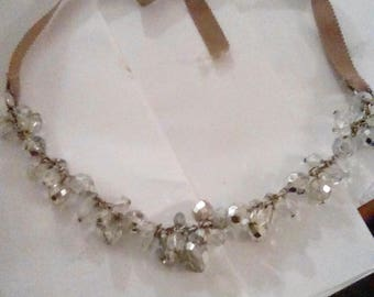 Whit Stone  1960s Vintage Necklace with a Ribbon Tie