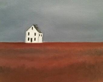 Crimson Harvest - Unframed - Oil On Paper