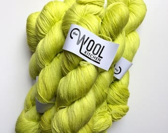 SALE Hand dyed sock yarn, Colour Runner,  4ply finger weight superwash MERINO and bamboo 100g. ethically sourced
