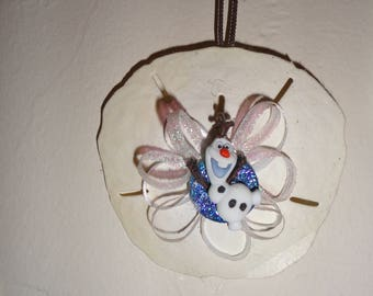 Olaf sand dollar ornament