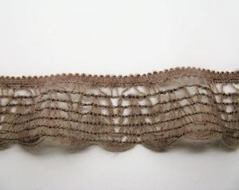 Trim lace wool beige slightly elastic, flexible and soft ref 5 c