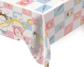 Tablecloth plastic Little Cooks 1.80 meters