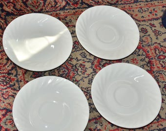 Corelle White Saucers Corelle White Saucer Set of 4 fluted saucer coaster
