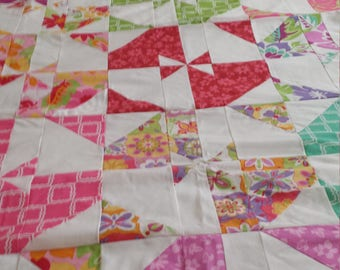 A queen size quilt top