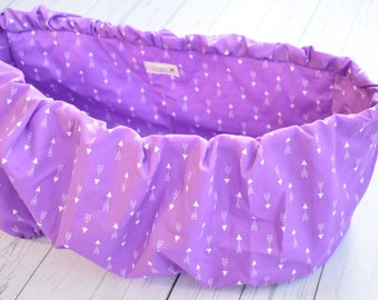 Purple ARROWS  shopping cart cover, whimsical ,Baby shower gift, Grocery cart cover, high chair cover.