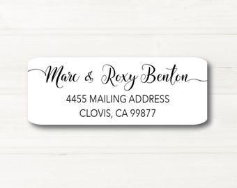 Fancy Font, Custom Return Address Label, Personalized, MATTE, Personal, Wedding, Shower